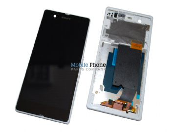 Sony Xperia Z L36H LCD + Digitiser With Frame - White